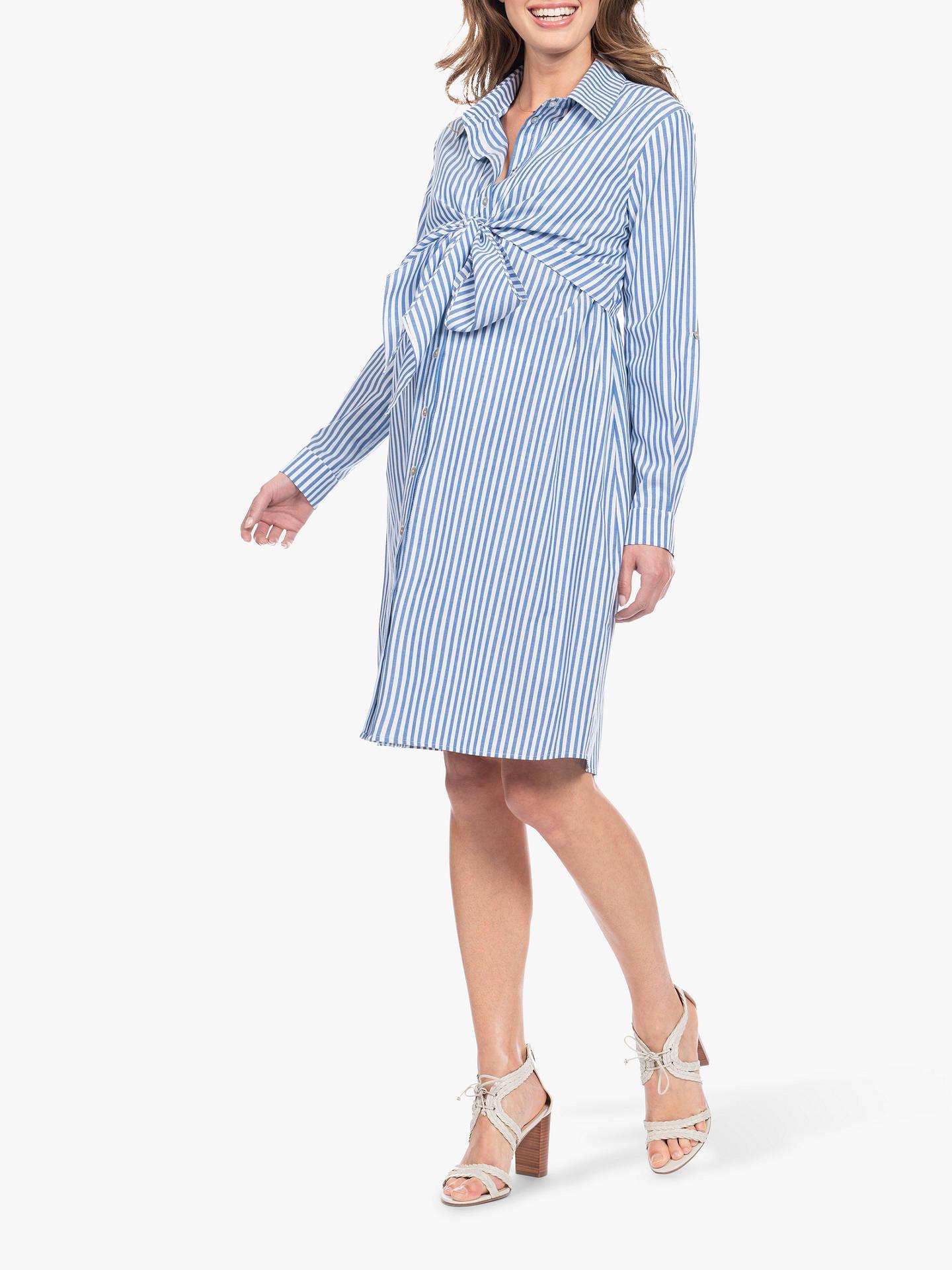 10ddc8d1b4631 ... Buy Séraphine Ariadne Stripe Shirt Maternity Nursing Dress, Blue/White,  10 Online at ...