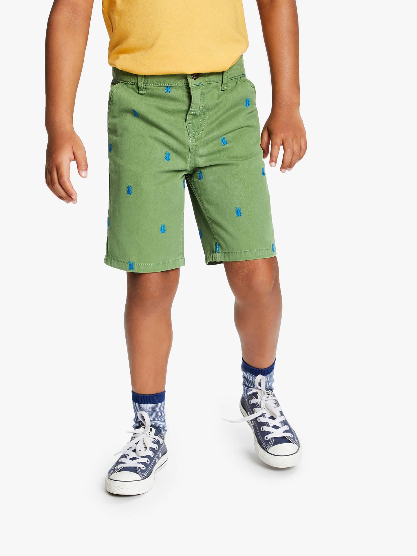 BuyJohn Lewis   Partners Boys  Bug Embroidered Shorts 94b3410ef28a