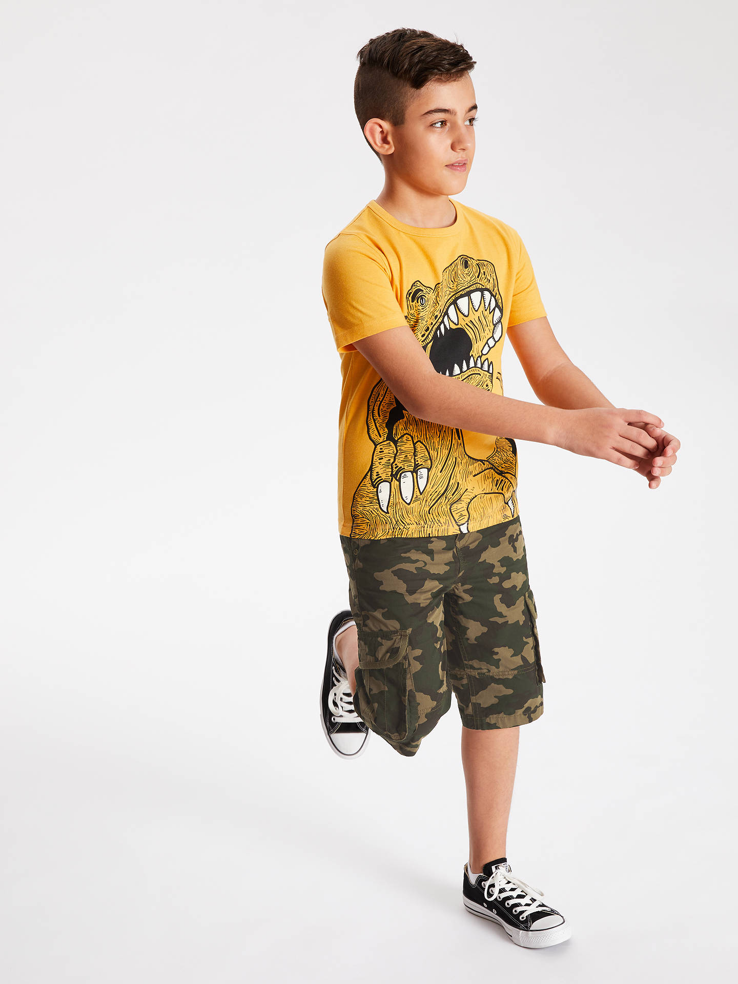 1aa51c0e5 ... Buy John Lewis & Partners Boys' Camouflage Cargo Shorts, Green, 8 years  Online ...
