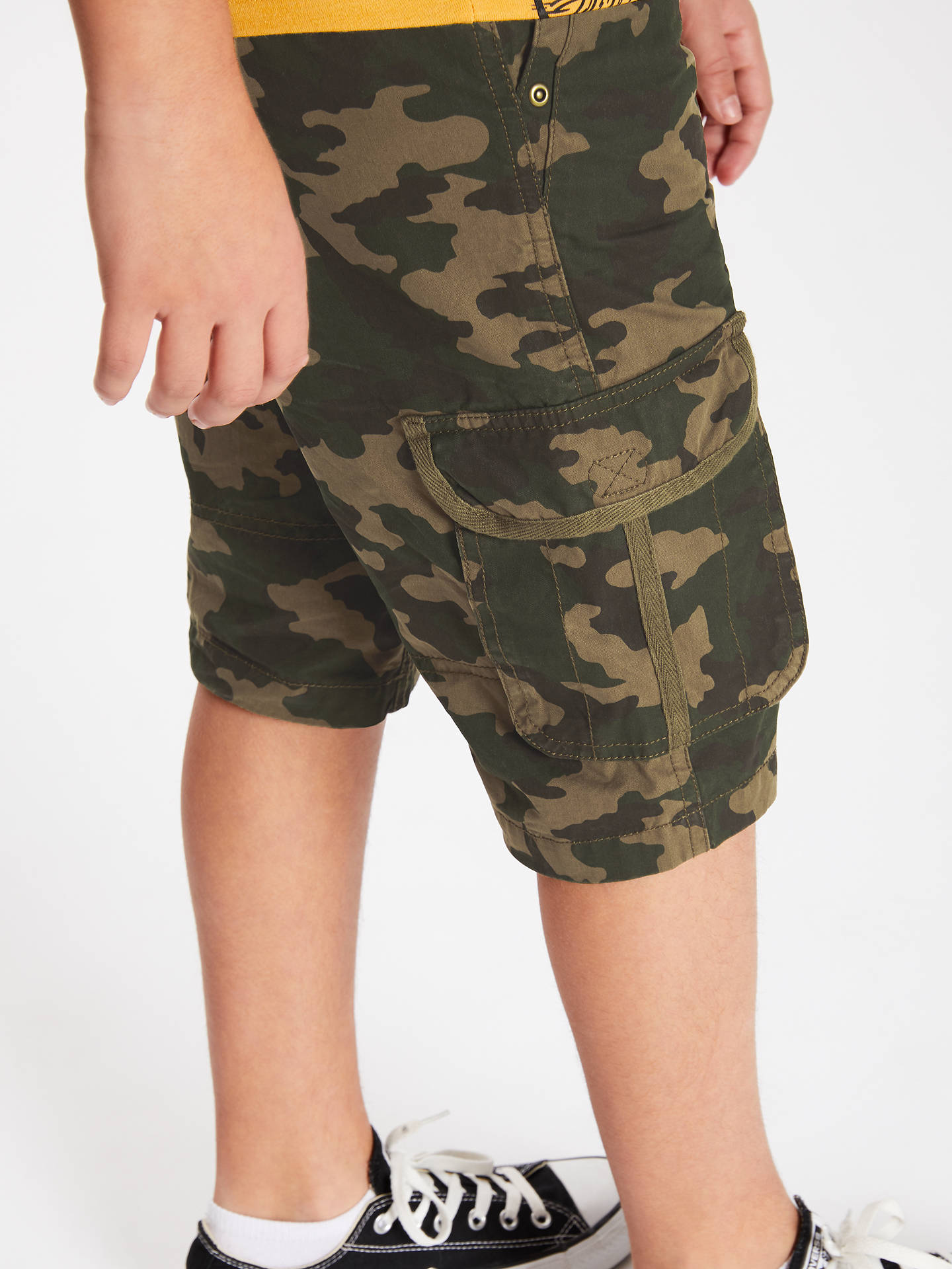 17a5ee7f4 ... Buy John Lewis & Partners Boys' Camouflage Cargo Shorts, Green, 8 years  Online