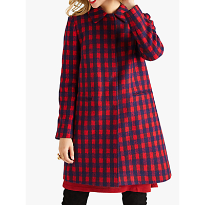 Yumi Check Coat, Red