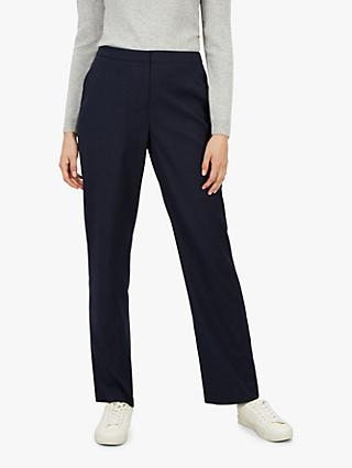 Jaeger Herringbone Straight Leg Trousers