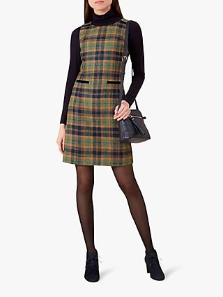Hobbs Morgot Wool Dress, Saffron Multi