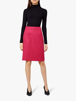 Hobbs Lacey Pencil Skirt, Hot Pink