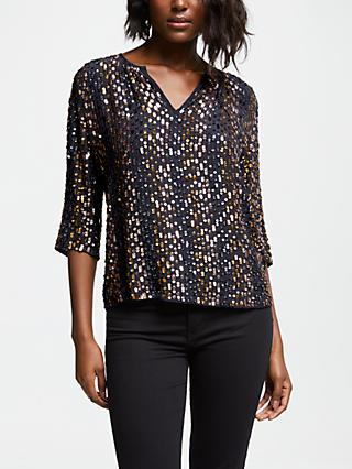 Velvet by Graham & Spencer Prima Sequin Top, Multi