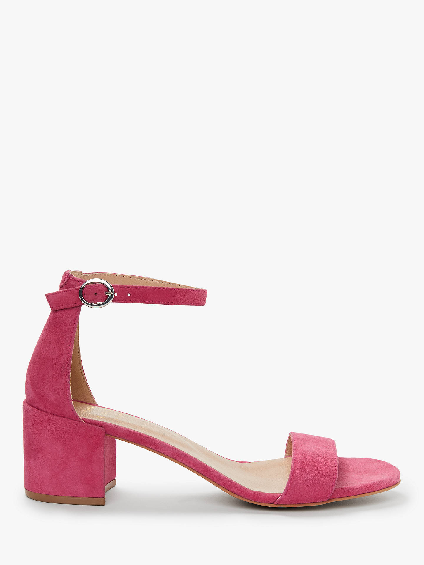 f19c2f2039 Buy John Lewis & Partners Clea Ankle Strap Block Heel Sandals, Hot Pink  Suede, ...