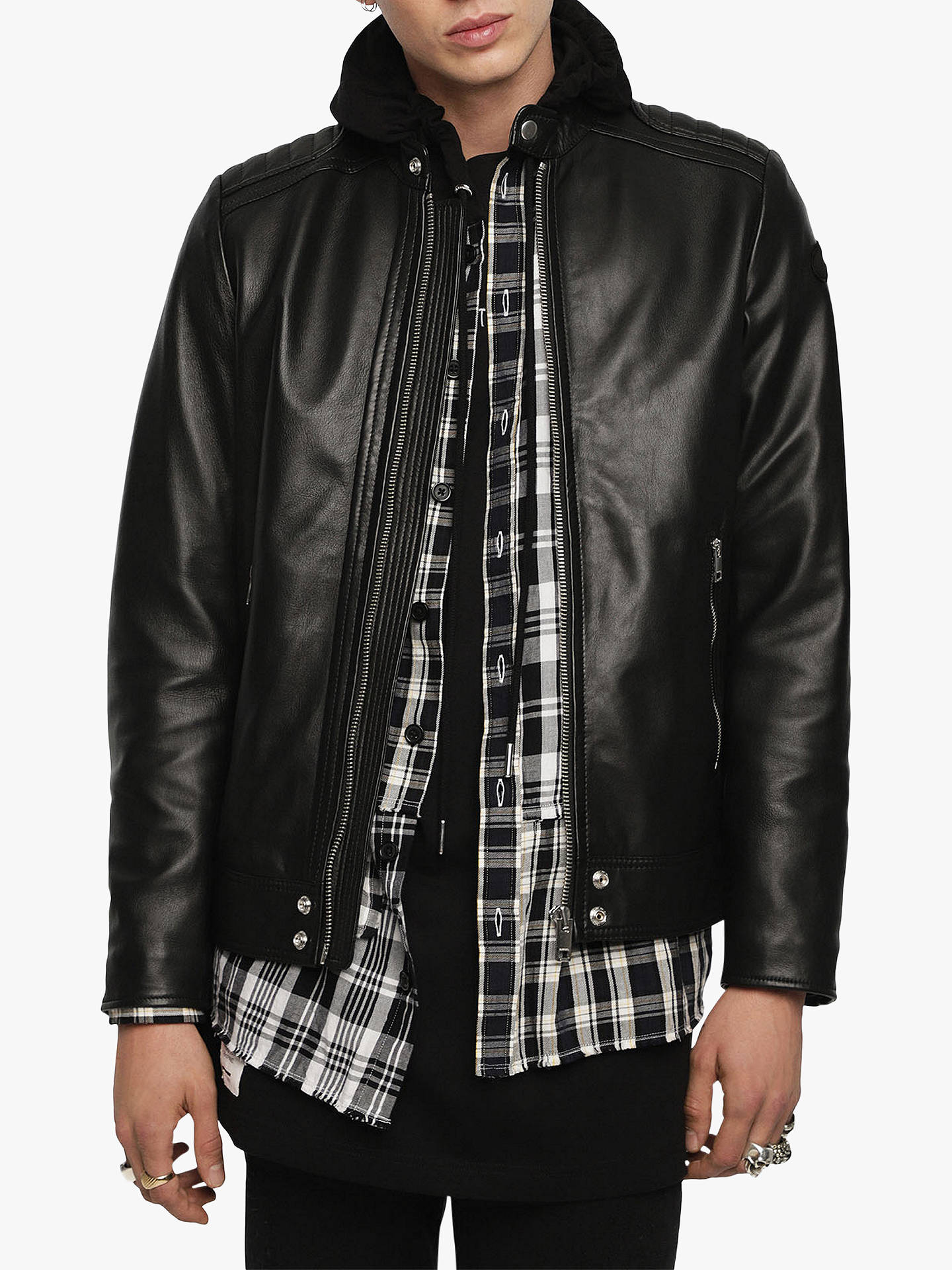 916df499ae Diesel L-Shiro Panelled Nappa Biker Jacket, Black