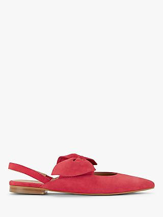 John Lewis & Partners Caela Suede Bow Detail Pumps