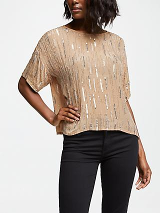 Velvet by Graham & Spencer Brighton Top, Deep Taupe