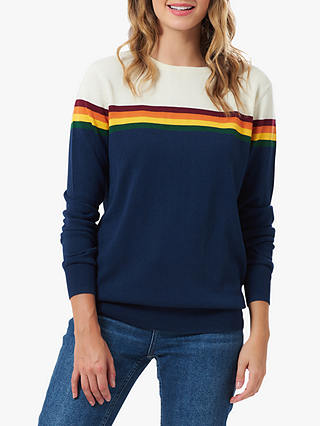 Buy Sugarhill Brighton Rita Autumn Stripe Jumper, Navy Multi, 8 Online at johnlewis.com