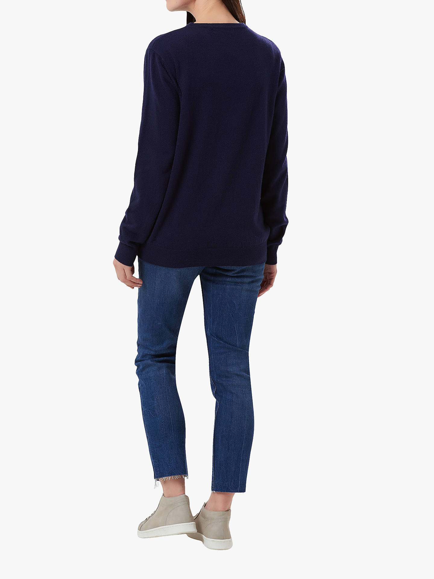 BuySugarhill Brighton Nicole Rawrsome Knit Jumper, Navy, 8 Online at johnlewis.com