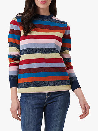 Buy Sugarhill Brighton Poppy Colour Block Stripe Jumper, Multi, 8 Online at johnlewis.com