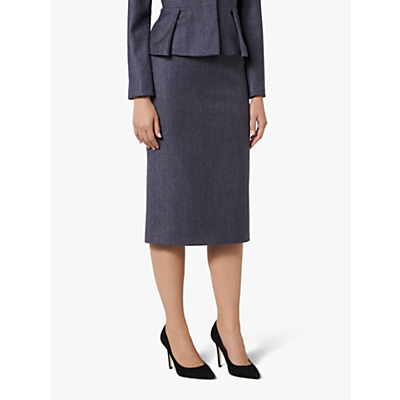 L.K. Bennett Aurore Skirt, Grey/Blue