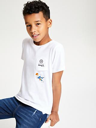 Hype Boys' Disney Donald Duck T-Shirt, White