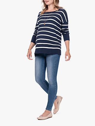 49274f293b6f4 Séraphine Rubina Stripe Knit Maternity & Nursing Jumper, ...