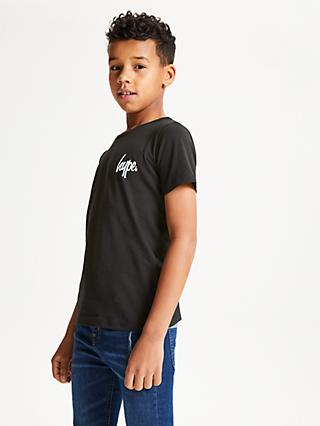 Hype Boys' Disney Mickey Crest Logo T-Shirt, Black