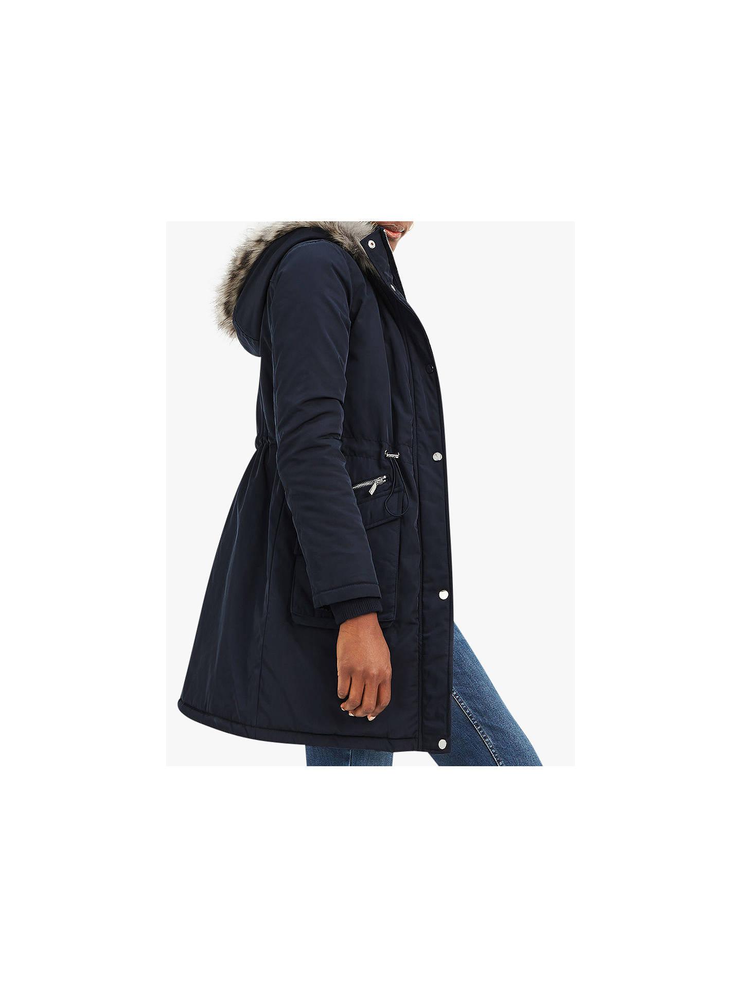 7f4b5c17d8d7 Buy Oasis Cromer Parka Coat, Navy, S Online at johnlewis.com ...