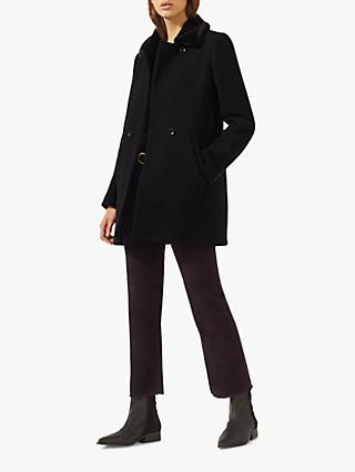 Jigsaw Modern Wool Blend Coat, Black