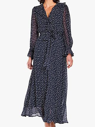Ghost Star Print Ruffle Detail Maxi Dress 9a7f36cf4