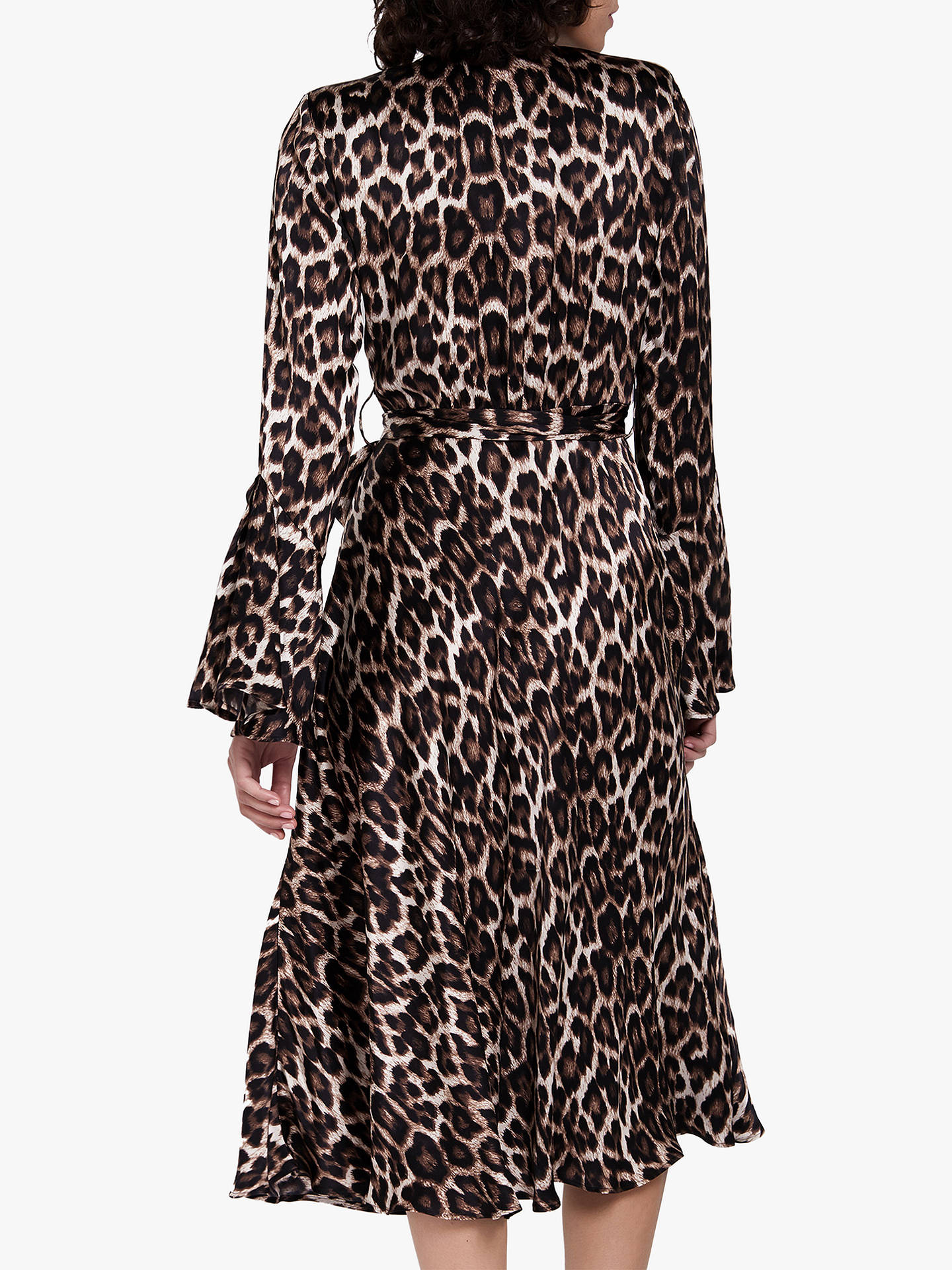 3fa8d1c48839 ... Buy Ghost Annabelle Leopard Print Midi Dress, Brown, M Online at  johnlewis.com ...
