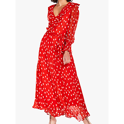 Ghost Everly Polka Dot Dress, Red