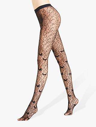 a01182f0c FALKE 10 Denier Butterfly Patterned Sheer Tights
