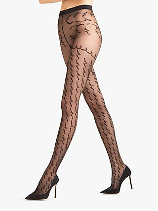 771ed109f6d FALKE Bloom Scent Patterned Sheer Tights