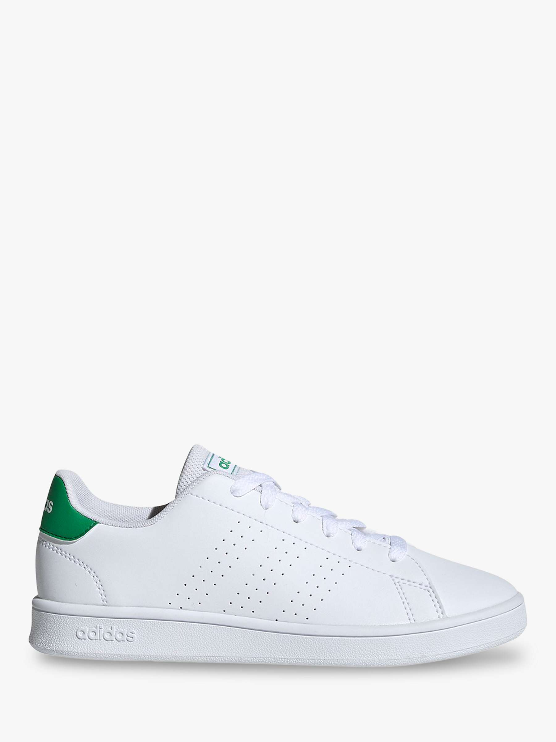 adidas Children's Advantage Trainers, FTWR White/Green/Grey Two