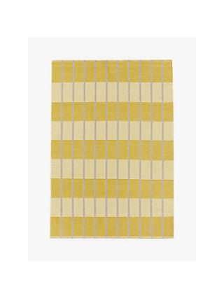 House by John Lewis Grid Check Rug, Mustard