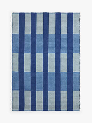 Buy House by John Lewis & Partners Grid Check Rug, Navy, L170 x W240 cm Online at johnlewis.com