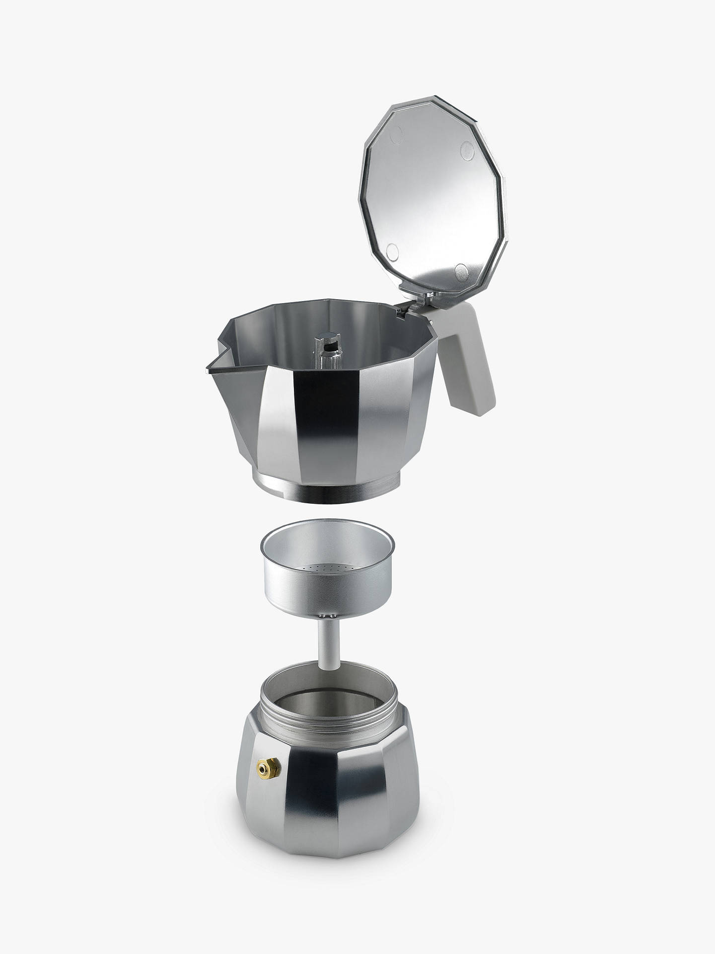 Buy Alessi Moka Espresso Coffee Pot, 3 Cup Online at johnlewis.com