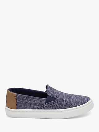 TOMS Children's Luca Stripe Chambray Shoes, Navy