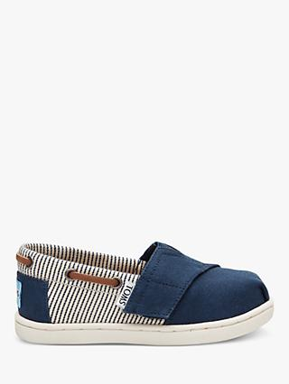 TOMS Junior Bimini Espadrilles Shoes, Navy