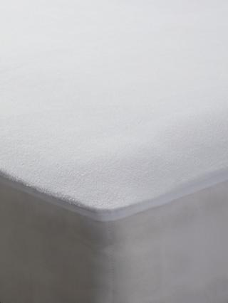 John Lewis & Partners Synthetic Waterproof Fleece Mattress Protector