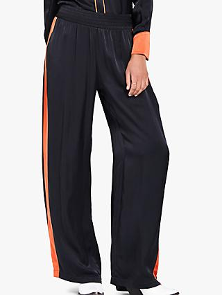 Ghost Ruby Wide Leg Trousers, Charcoal/Orange