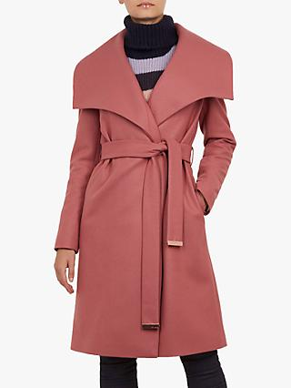 d1e26d1ee Ted Baker Collar Wrap Front Wool Coat