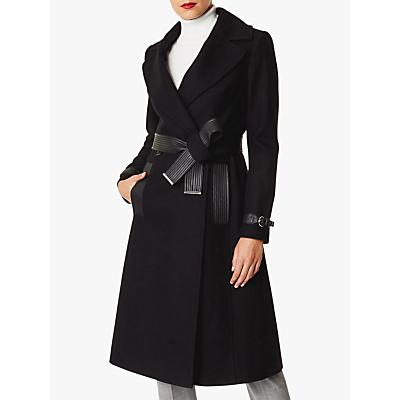 Karen Millen Belt Trench Coat, Black