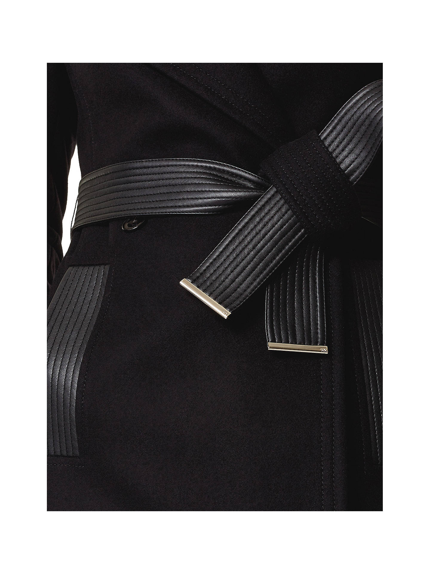 BuyKaren Millen Belt Trench Coat, Black, 6 Online at johnlewis.com