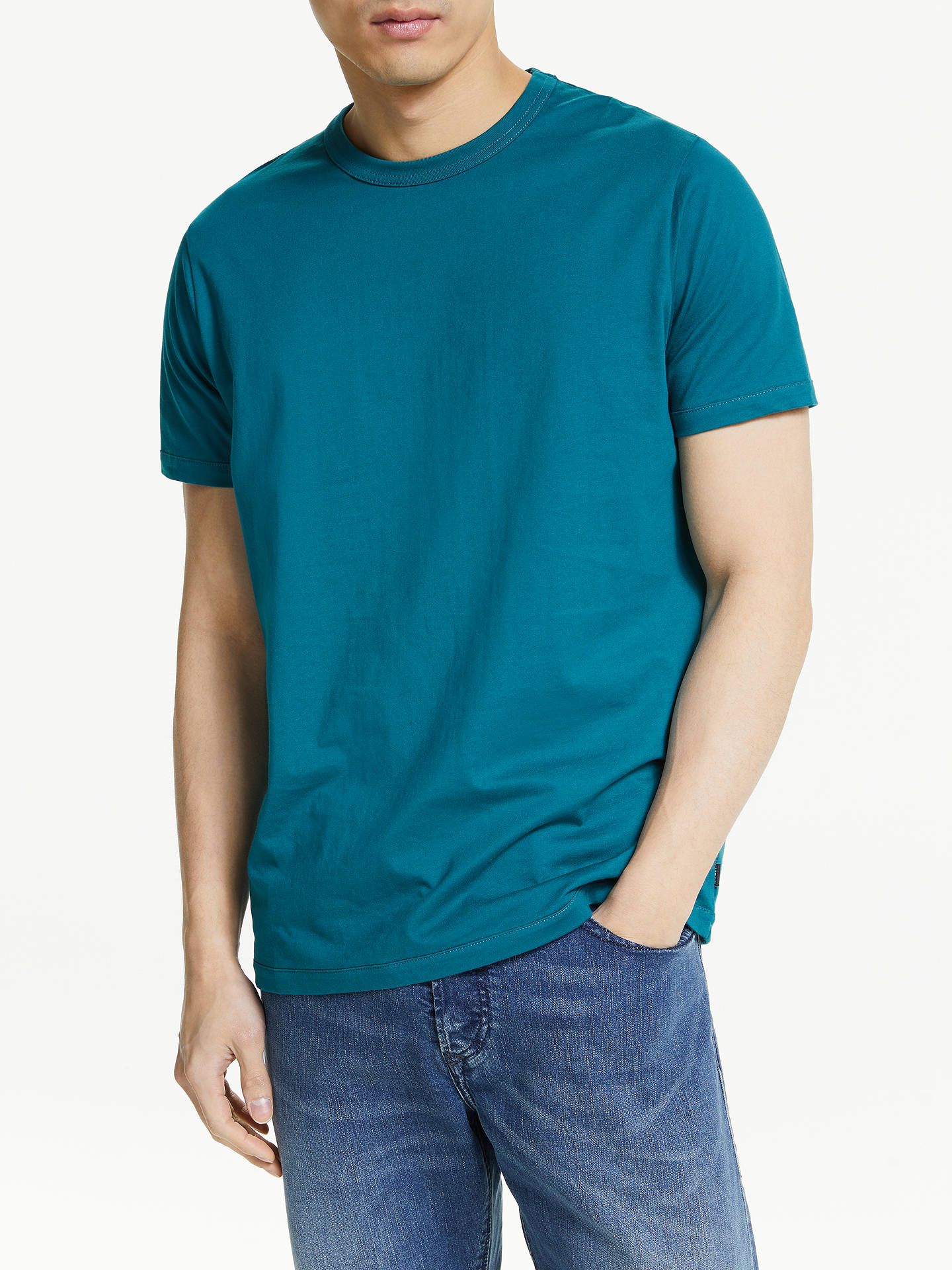 BuyDiesel Diamantik T-Shirt, Teal, L Online at johnlewis.com