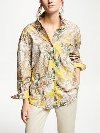 Weekend MaxMara Floral Print Blouse, Yellow/Multi