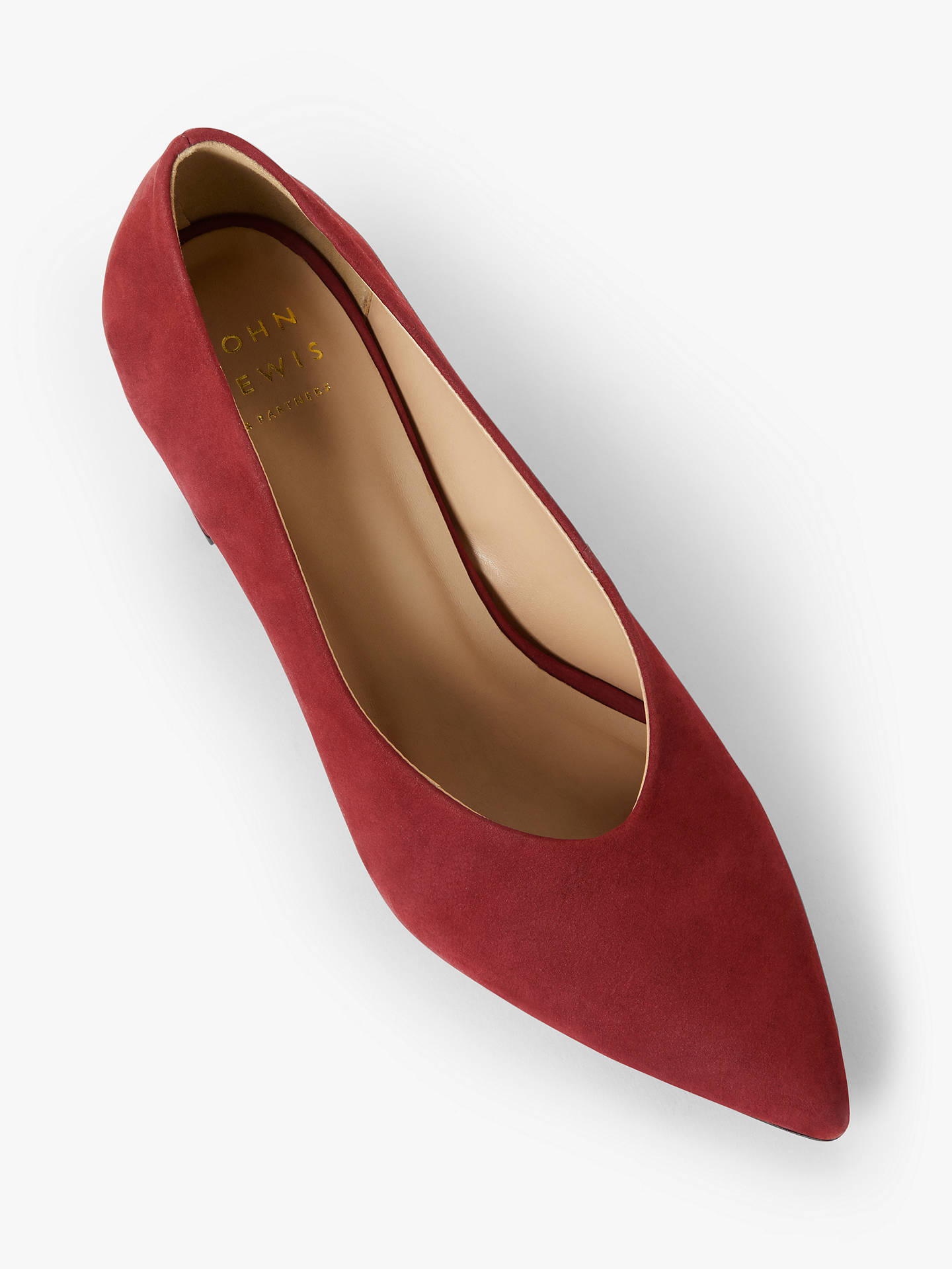 Buy John Lewis & Partners Alannah Court Shoes, Red, 4 Online at johnlewis.com