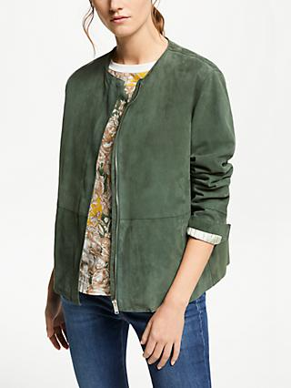 Weekend MaxMara Suede Jacket, Sage Green