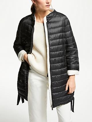 Weekend MaxMara Quilted Tie Hem Jacket, Black/White