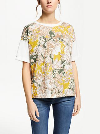 Weekend MaxMara Floral Jersey T-Shirt, White/Yellow