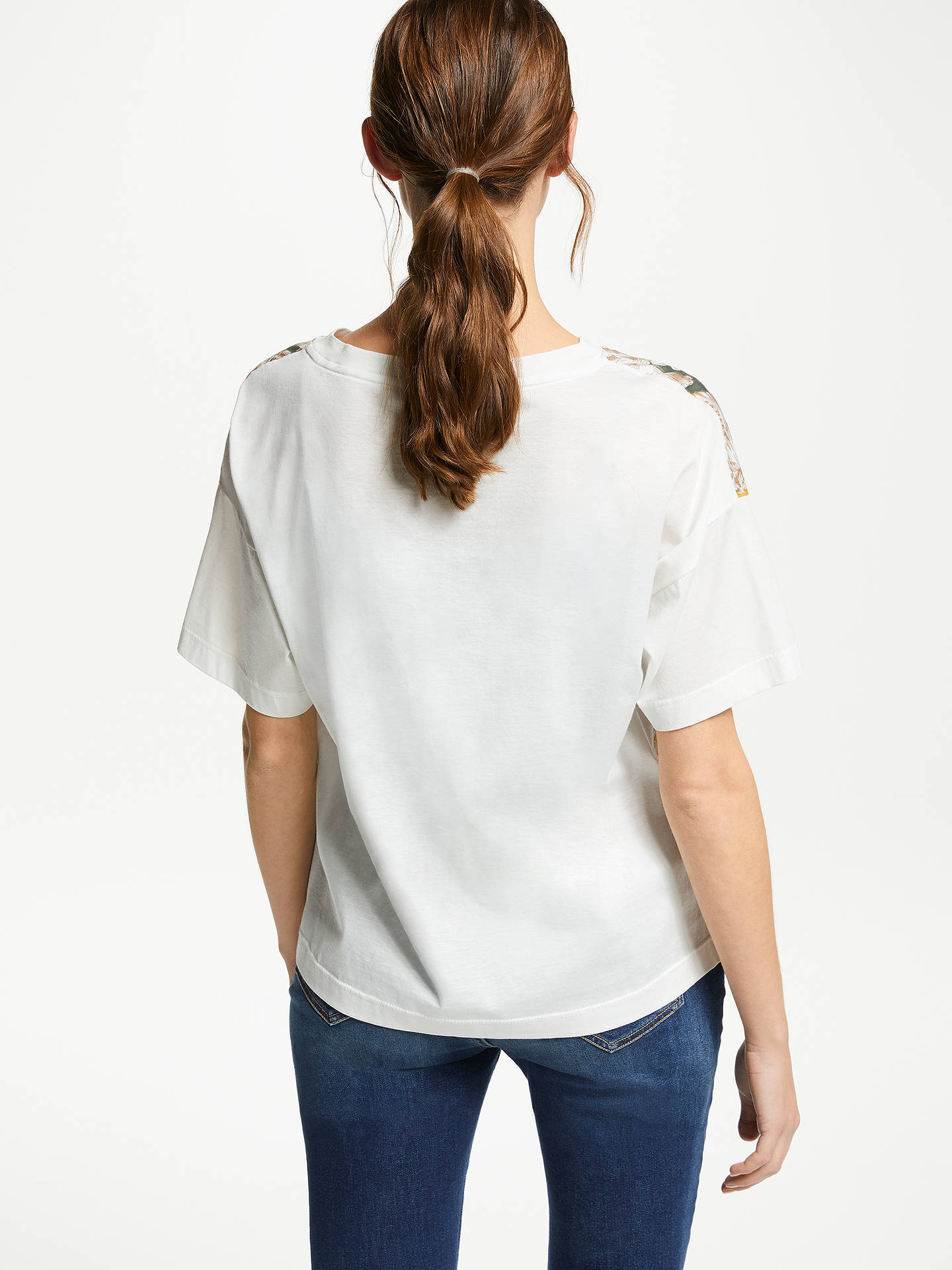 BuyWeekend Floral Jersey T-Shirt, White/Yellow, M Online at johnlewis.com