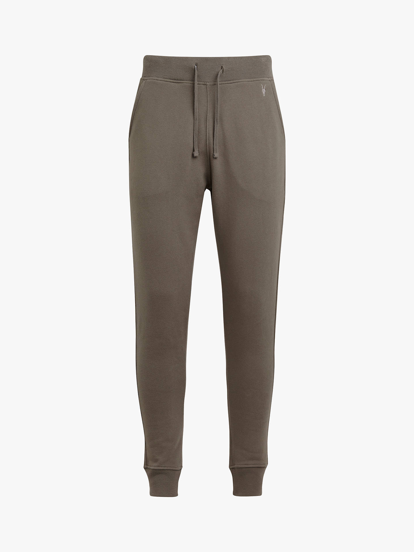 Buy AllSaints Raven Cuffed Tracksuit Bottoms, Core Grey, XS Online at johnlewis.com