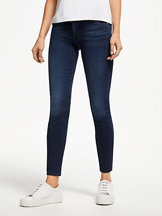 7 For All Mankind B(air) Skinny Crop Jeans, Mid Blue