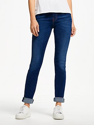 7 For All Mankind Kimmie Slim Illusion Straight Leg Jeans, Bright Indigo