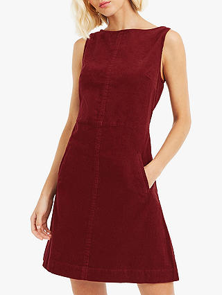 reasonably priced entire collection strong packing Oasis Cord Slash Neck Dress, Orange at John Lewis & Partners