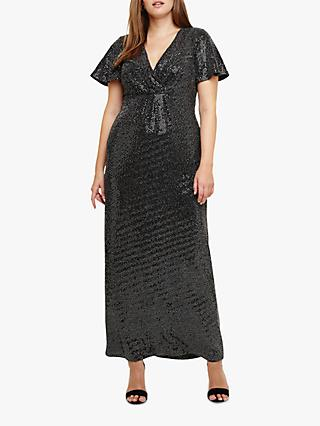 Studio 8 Galaxy V-Neck Maxi Dress, Silver